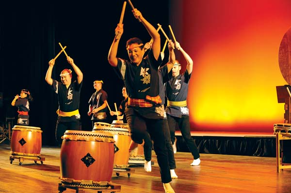 Guest performer San Jose Taiko; photo courtesy the artist