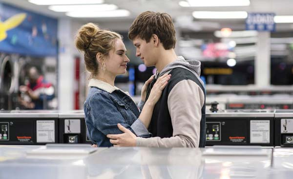 """Lily James and Ansel Elgort star in """"Baby Driver."""" Sony/TrStar photo via AP photo"""