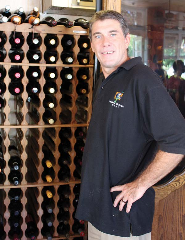 General Manager Sean Stover is a bartender and chef and he prepare the wine dinners each month. The next one is July 7. The Maui News / CARLA TRACY photo