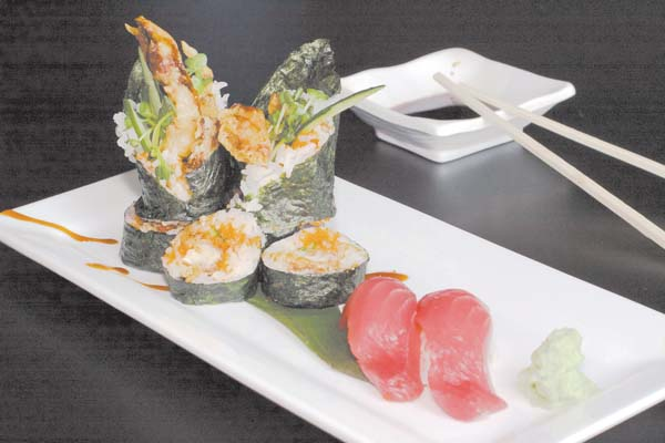 Spider yellowtail roll delights; The Maui News / CARLA TRACY photo