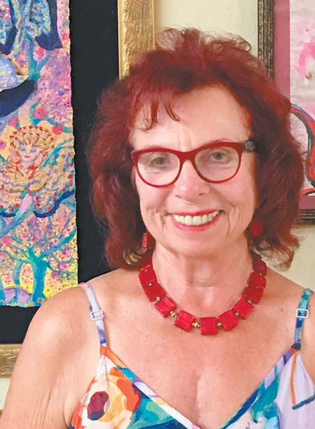 Artist Hermine Harman is the creator of the Maui Mermaid Extravaganza at The Shops at Wailea. -- The Maui News / CATHERINE KENAR photo