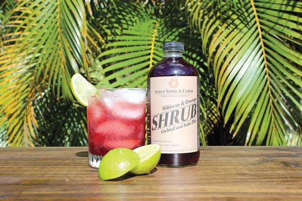 With the dessert course, sip a Kir De Tropicale made with Maui Shrub Farm hibiscus orange and sparkling wine. Photo courtesy Hyatt Maui