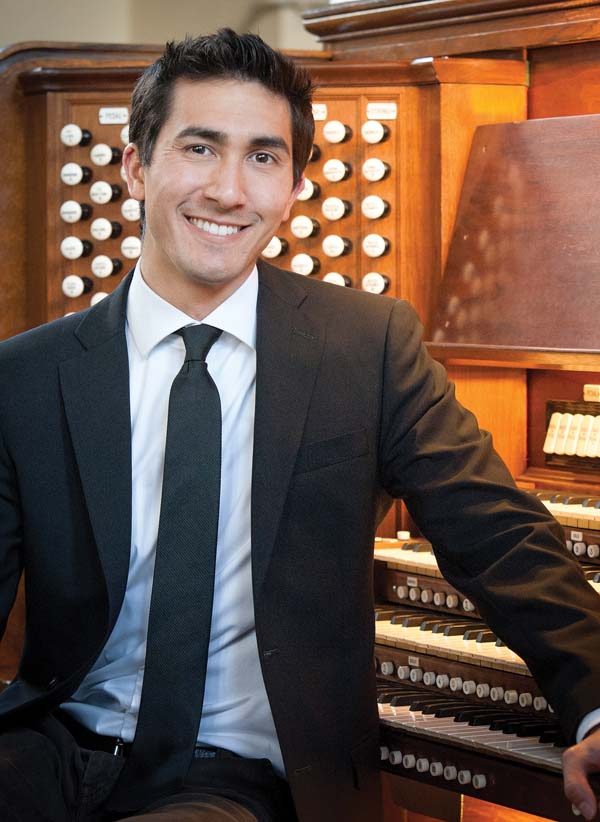 Concert organist Joey Fala will perform at St. John's Church in Kula • Saturday; photo provided by the artist.