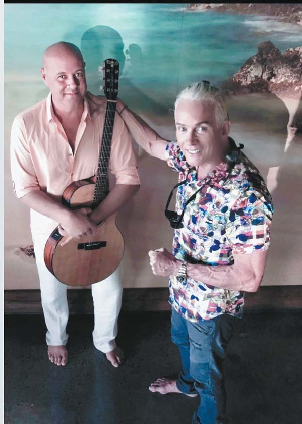 Eric Gilliom (left) and Barry Flanagan team up for a performance at Nalu's South Shore Grill in Kihei 7:30 p.m. Saturday. Photo courtesy the artists
