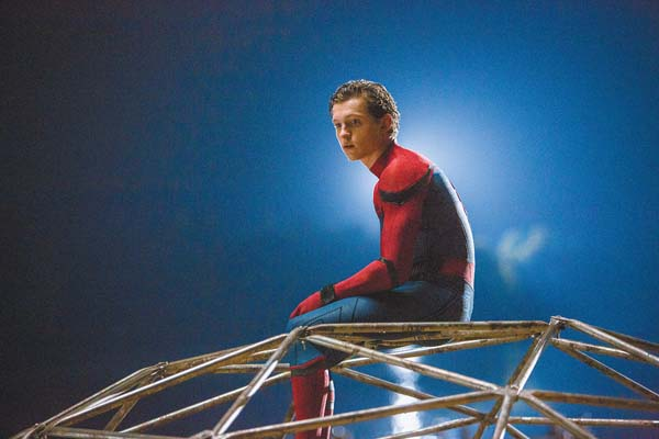 "Tom Holland stars in ""Spider-Man: Homecoming."" Columbia Pictures-Sony via AP photo"