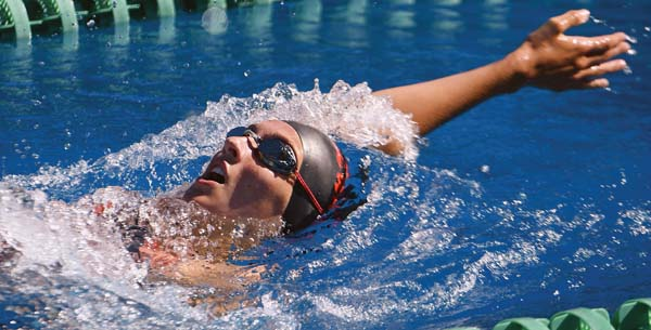 Lahaina's Lexi Anderson takes fourth in the girls 13-14 200 IM in 2:35.48. -- The Maui News / MATTHEW THAYER photo