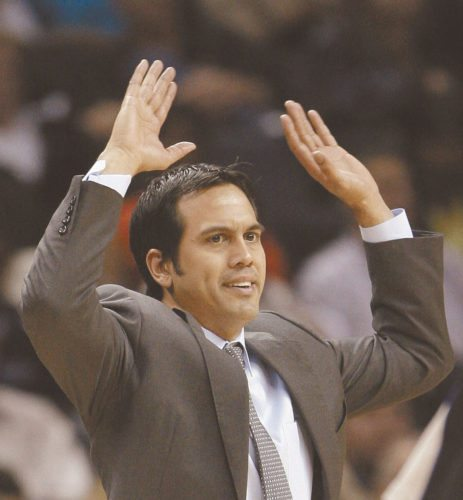 Erik Spoelstra has coached the Miami Heat since 2008, winning a pair of NBA titles. • AP file photo
