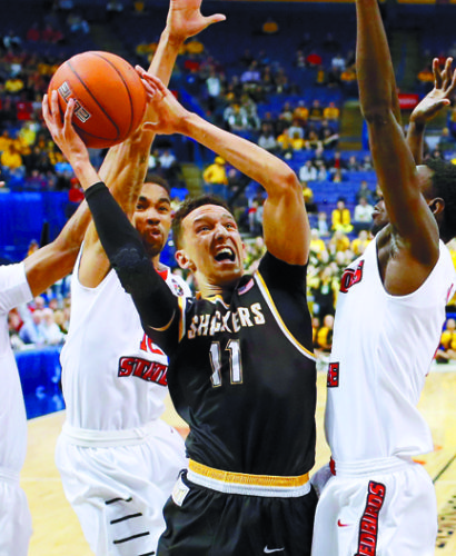 Landry Shamet is one of Wichita State's eight leading scorers from last season who return this season. • AP file photo