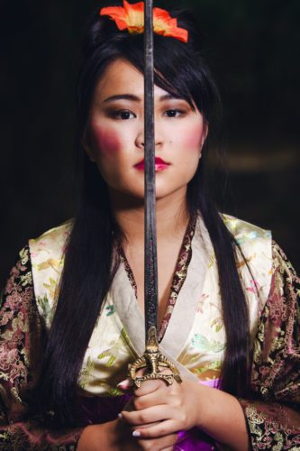 "Jena Mukai is Mulan in The Maui Academy of Performing Arts presentation of ""Disney's Mulan Jr."" • Peter Swanzy photo"
