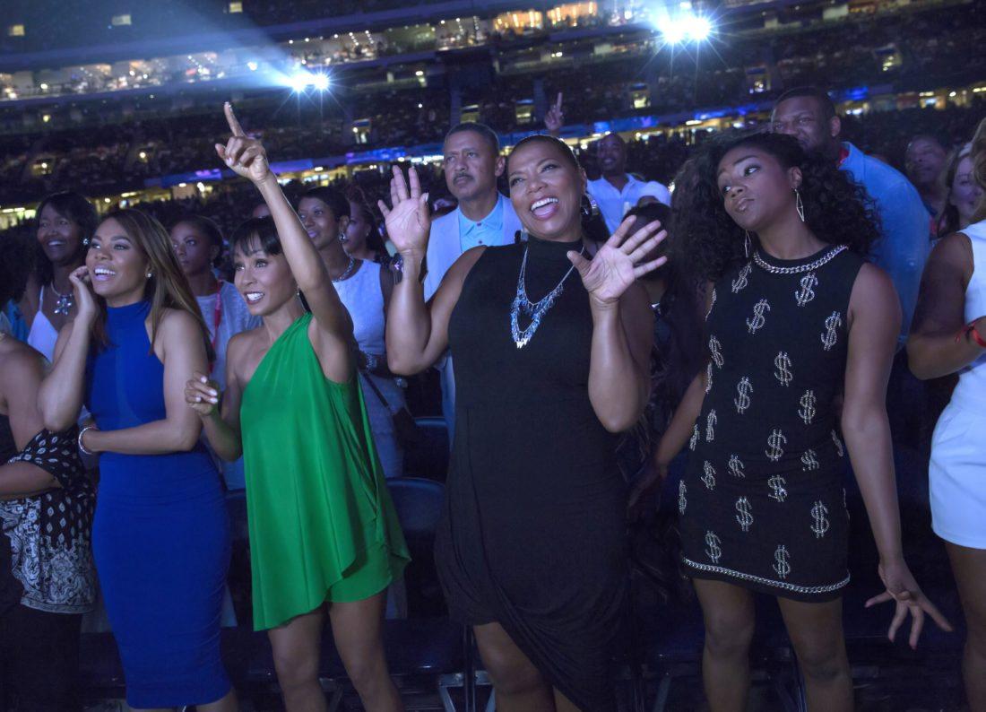 "Regina Hall (from left), Jada Pinkett Smith,Queen Latifah andTiffany Haddish star in ""Girls Trip.""  •  Universal Pictures via AP photo"