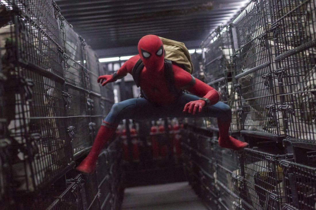 "Tom Holland stars in ""Spider-Man: Homecoming."" • Columbia Pictures/Sony via AP photo"
