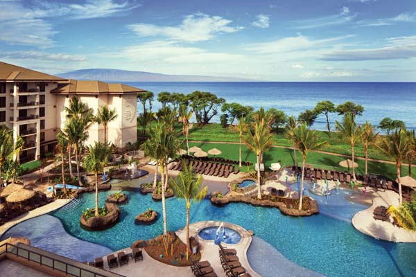 Mauka Makai overlooks the pool and beyond at Westin Nanea Ocean Villas in Kaanapali. Westin Nanea Ocean Villas photo