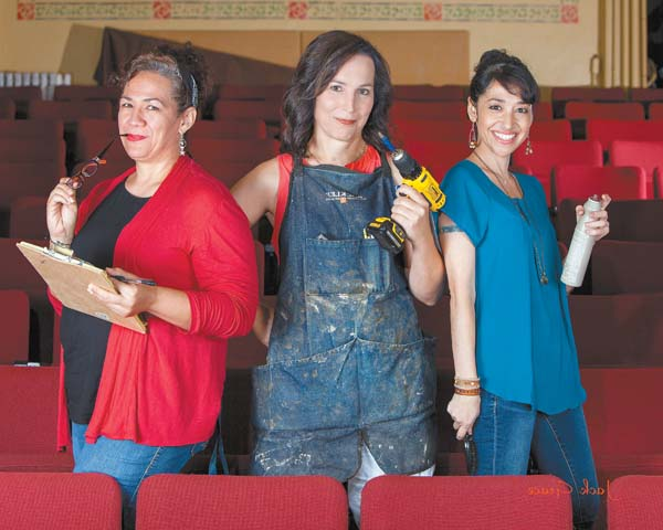 Tina Kailiponi (from left), Ally Shore and Karli Rose volunteer their time and skills to make community theater on Maui a treat for audiences. Jack Grace photo
