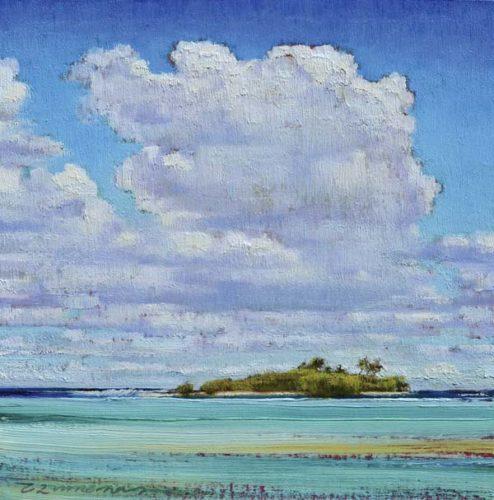 """Cloud-Sky-Treasure V1""  by Caroline Zimmermann -- Photo courtesy Lahaina Galleries-Wailea"