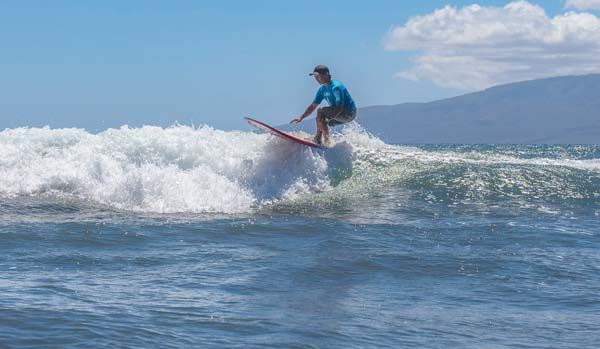 Glenn Fukushima rides a wave en route to the 50-59 title Saturday. -- DAYANIDHI DAS photo