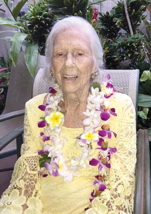 Cornelia Spanier celebrated her 102nd birthday on July 26. -- SANDRA BOLL photo