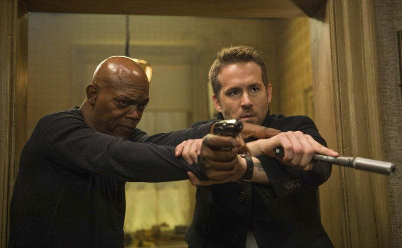 "Samuel L. Jackson (left) and Ryan Reynolds  star in ""The Hitman's Bodyguard."" • Lionsgate via AP photo"