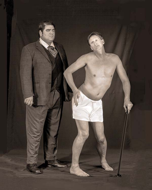 "ProArts Playhouse in Kihei opens its season Sept. 22 with Francis Tau'a (left) and Ricky Jones in ""The Elephant Man."" Jack Grace photo"