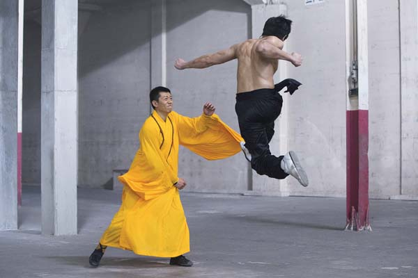 "Yu Xia and Philip Ng star in ""Birth of the Dragon."" BH Tilt and WWE Studios via AP photo"