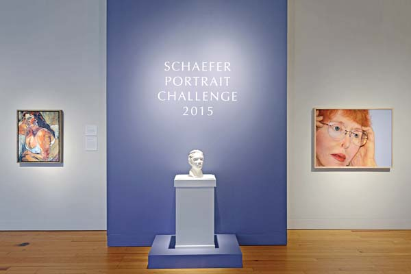 The entrance to the Schaefer International Gallery during the last Schaefer Portrait Challenge at the Maui Arts & Cultural Center. -- Photo courtesy of the MACC
