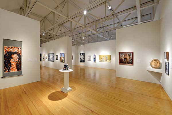 The gallery floor with some of the juried portraits. -- Photo courtesy of the MACC