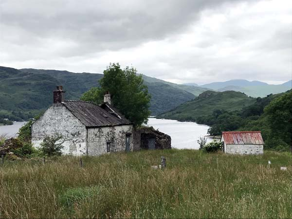 Doune, Scotland, which lies shortly past Loch Lomond, Britain's largest body of inland water at 22 miles long. The loch narrows at its northern end and the walk leads into an open field where old farmhouses still stand. -- Photo via AP