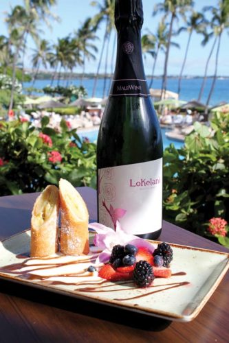 Dessert and bubbly make for a fitting finale to the Tastemakers feast. Hyatt Maui photo
