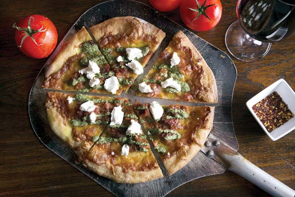 Hand-tossed Calabrese pizza; Westin KOR photo