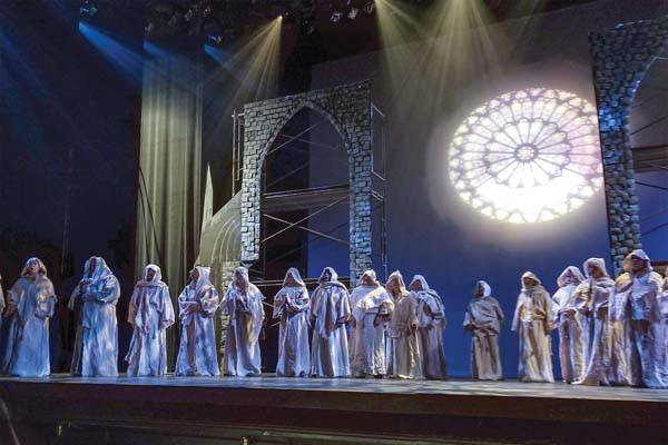 """Opening scene from MAPA Live!'s production of """"The Hunchback of Notre Dame""""; Jack Grace photo"""
