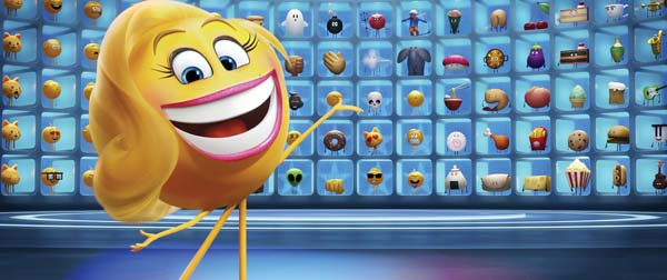 "Smiler, voiced by Maya Rudolph, stars in ""The Emoji Movie."" Sony Pictures Entertainment via AP photo"
