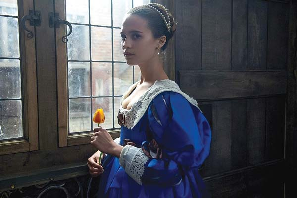 "Alicia Vikander stars in ""Tulip Fever."" The Weinstein Company via AP photo"