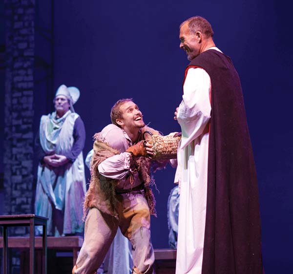 "Keith Welch (from left), David Tuttle and Will Kimball in another scene from MAPA Live!'s production of ""The Hunchback of Notre Dame."" Jack Grace photo"