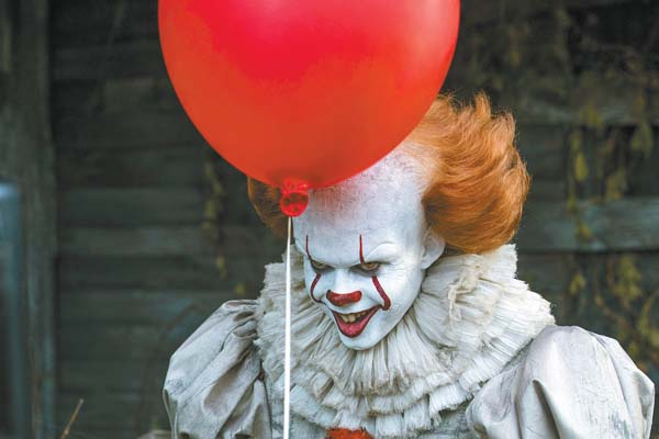 "Bill Skarsgard stars in ""It""; Warner Bros. Pictures via AP photo"