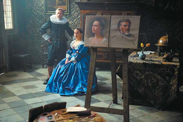 "Christoph Waltz and Alicia Vikander stars in ""Tulip Fever""; The Weinstein Company via AP photo"