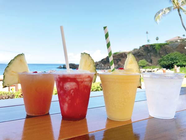 "Restaurant and bar outlets at the Sheraton Maui Resort & Spa are just saying ""no"" to single-use plastic straws in order to save the ocean and beach environment  in Kaanapali. Sheraton Maui photo"