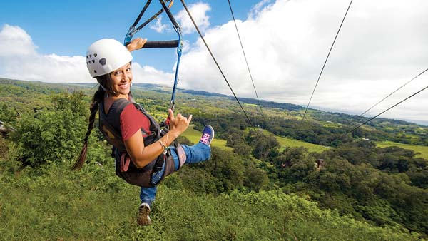 You may glide through the air with the greatest of ease in Upcountry Maui. -- Pi'iholo Ranch Zipline