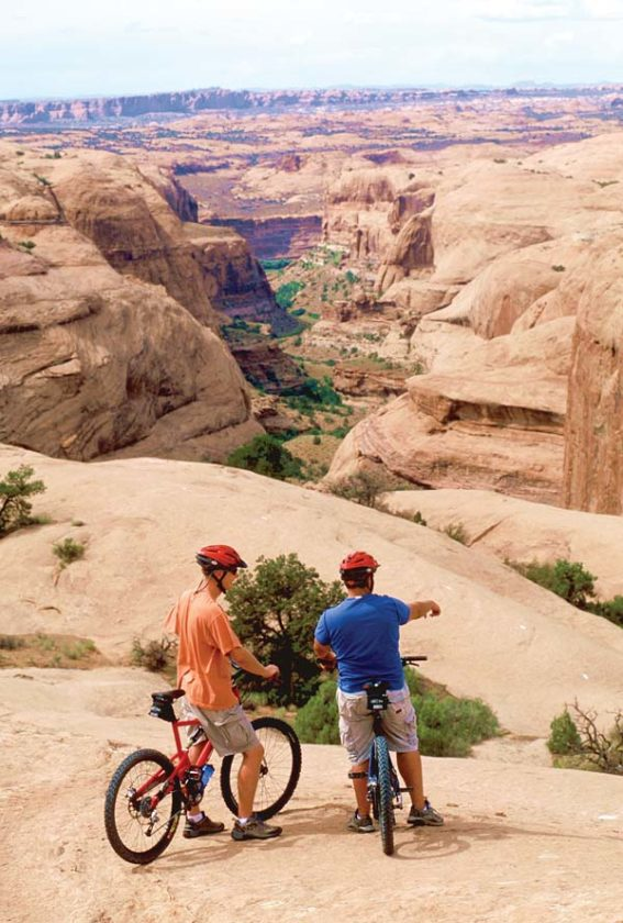 mountain biking past dinosaur tracks and rafting down the Green -- Moab Adventure Center photo