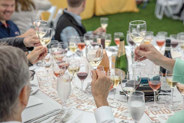 Toasting to another good year is the Martha's Vineyard Food & Wine Festival in Massachusetts. -- Martha's Vineyard Food and Wine Festival photo