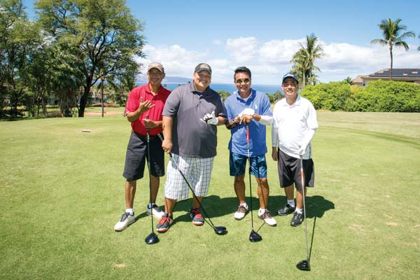 "The team that placed 21st, Ka'anapali Beach Hotel, received special honors and was noted as the ""winning"" team — a tribute to the 21st annual event. They are Roy Tapec (from left), Chris Napoleon, Sam Balantac and Mitchell Sado."