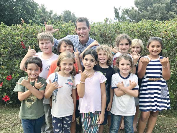 As Montessori School of Maui's new head of school, Eric Dustman is helping children become independent, confident and inquisitive learners. MAILE LOPES photo
