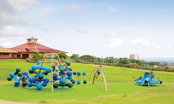 After raising the necessary funds, Puu Kukui Elementary School's PTSA Playground Committee let the school's Student Lighthouse Team (the school's student government) pick the playground pieces to be purchased and installed.
