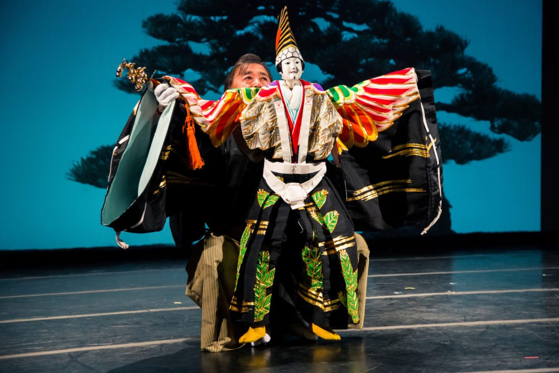 """Master puppeteer Koryu Nishikawa V (first photo) and Tom Lee along with the Yara Arts Group present their collaboration, """"Shank's Mare,"""" which features a score on hammered dulcimer, shamisen and flute. Performance is 7:30 p.m. Sept. 29 in the Castle Theater at the Maui Arts & Cultural Center in Kahului. Tickets range from $12 to $55 with 10 percent discounts for MACC members and 1/2 price for kids under 12 (plus applicable fees). For more information or to purchase tickets, visit the MACC box office, call 242-7469 or go to www.mauiarts.org. • Ayumi Sakamoto photo"""