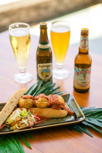 Beer and German food will go hand in hand like the chicken dance and oom-pah-pah music in the Oktoberfest Beer Garden at Montage Kapalua Bay on Friday.  • Montage Kapalua Bay photo