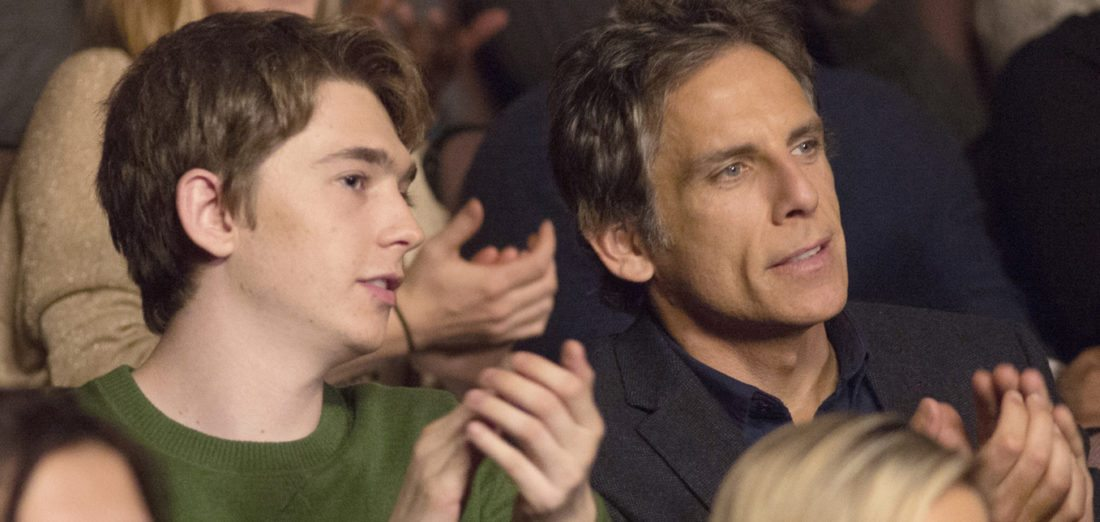 "This image released by Amazon Studios shows Austin Abrams, left, and Ben Stiller in a scene from ""Brad's Status."" (Jonathan Wenk/Amazon Studios via AP)"