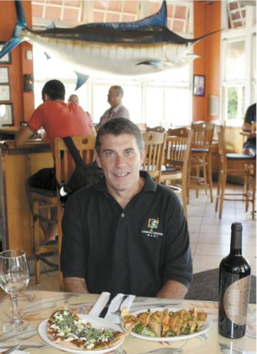 General Manager Sean Stover (first photo) is a bartender and chef at Lahaina Coolers. • The Maui News / CARLA TRACY photo