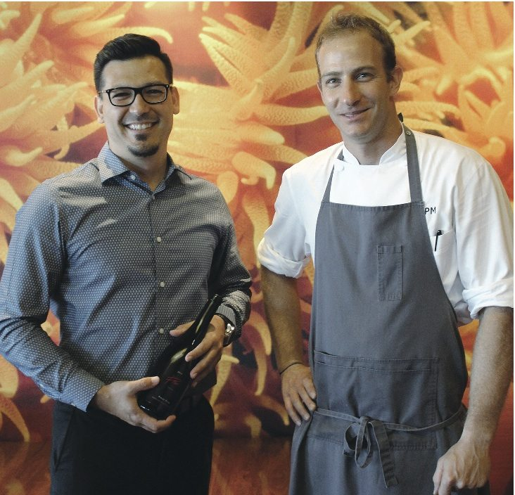 Assistant General Manager Jonathan Adkisson (left), and Chef Peleg Miron will create a special champagne pairing menu. • The Maui News / CARLA TRACY photo