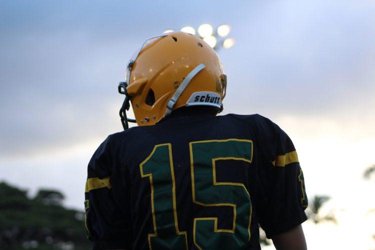 Tiare Kekino played quarterback for Hana High School in the second and third quarters of its 53-18 loss to Seabury Hall on Saturday. • Tia-Mae Sinenci photo