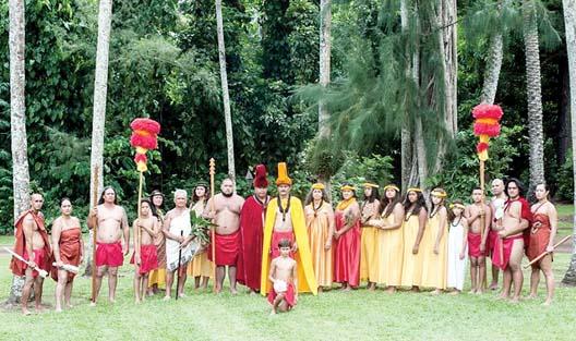 The Royal Court will parade with Hawaiian pomp and circumstance inro Hana Ball Park Oct. 12. -- The Maui News / Photo courtesy Festivals of Aloha
