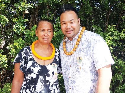 The Molokai coordinator Tina Thompson (above,  left) and Daryl Fujiwara,  Maui County coordinator plan the details. -- The Maui News / Photo courtesy Festivals of Aloha