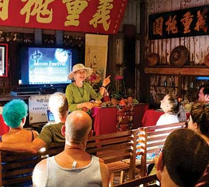 Listen to a talk on history  in the Wo Hing Cook House during festivities. -- Lahaina Restoration Foundation photo
